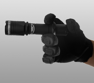 Armytek Dobermann Pro XHP35 HI (Warm) on a hand